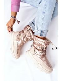 Šilti patogūs šampano spalvos batai - 21SN26-4353 GLD
