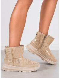 Patogūs stilingi šilti smėlio spalvos batai - 21SN26-4355BE