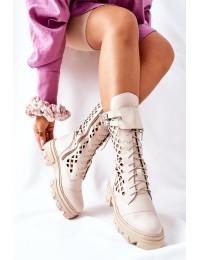 Natūralios odos aukštos kokybės išskirtiniai batai - 4056 CAPPUCCINO