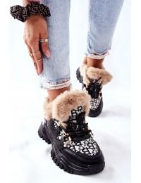 Madingi šilti patogūs sportinio stiliaus batai - HF219 BLK