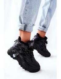 Balti sportiniai komfortiški batai su pašiltinimu - 21BT26-4356 BLK