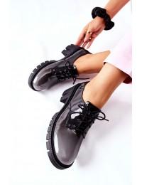 Ombre spalvų stilingi aukštos kokybės batai - F769 GREY