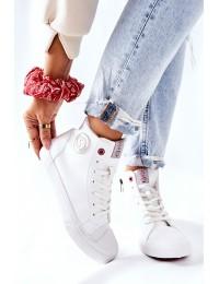 Balti Cross Jeans bateliai su pašiltinimu - II2R4010C WHITE