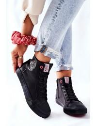 Juodi Cross Jeans bateliai su pašiltinimu - II2R4009C BLK