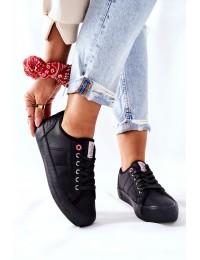 Juodi Cross Jeans bateliai su raišteliais - II2R4003C BLK