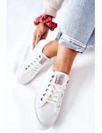 Balti laisvalaikio stiliaus Cross Jeans bateliai - II2R4004C WHITE