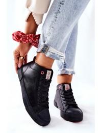 Juodi laisvalaikio stiliaus Cross Jeans bateliai - II2R4032C BLK