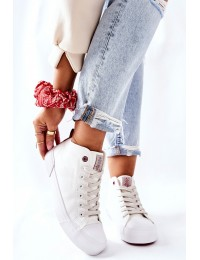 Balti Cross Jeans bateliai - II2R4033C WHITE