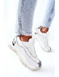Madingi sportinio stiliaus Cross Jeans batai - II2R4017C WHITE