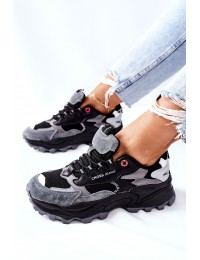 Sportiniai Cross Jeans patogūs kokybiški batai - II2R4019C BLK GREY