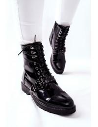 Juodi lakuotos odos Cross Jeans stilingi aulinukai - GG2R4022 BLK
