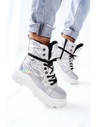 Šilti komfortiški sidabro spalvos batai - 22-34520 SILVER
