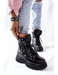 Šilti komfortiški juodos spalvos batai - 22-34520 BLK