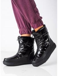 Juodos spalvos šilti patogūs batai - WB-4349B