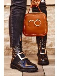 Stilingi juodi batai papuošti sagtimi - HQ230 BLK