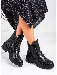 Madingi išskirtinio odos rašto stilingi batai - TR744B/B/B