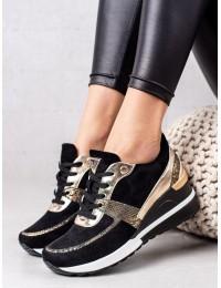 Aukštos kokybės patogūs batai su aukso spalvos motyvais - XY22-10649B