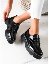 Lakuotos aukštos kokybės odos batai su platforma - HX22-16286B