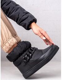 Juodi stilingi patogūs sniego batai - WB-3558B