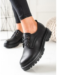 Juodi stilingi batai su platforma - 9586B