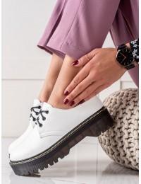 Balti madingi batai su platforma - D7007W