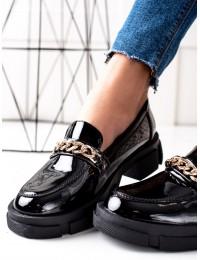 Juodi stilingi batai su platforma - GD-XR-114A-B