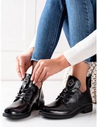 Prabangaus dizaino aukštos kokybės juodi batai - PB262B