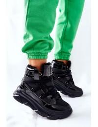 Juodi aukštos kokybės Big Star batai su pašiltinimu - II274311 BLK