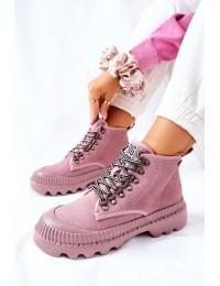 Patogūs ir stilingi aukštos kokybės natūralios odos Big Star batai - II274367 NUDE