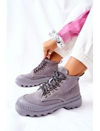 Patogūs ir stilingi aukštos kokybės natūralios odos Big Star batai - II274365 GREY