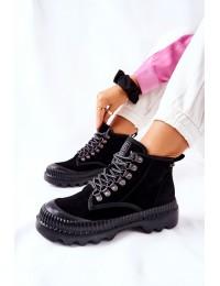 Patogūs ir stilingi aukštos kokybės natūralios odos Big Star batai - II274363 BLK