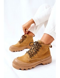 Patogūs ir stilingi aukštos kokybės natūralios odos Big Star batai\n - II274366 CAMEL