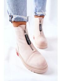 Aukštos kokybės batai su platforma - Beige Charlee - NS212 BEIGE