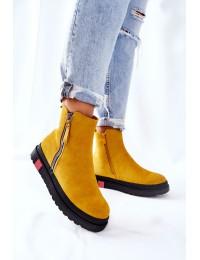 Aukštos kokybės batai su platforma - Yellow Nessa - NS215 YELLOW