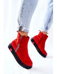 Aukštos kokybės batai su platforma - Red Nessa - NS215 RED