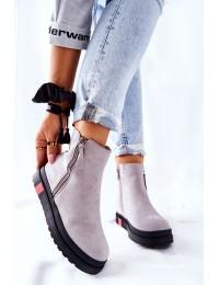 Aukštos kokybės batai su platforma - Grey Nessa - NS215 LT.GREY