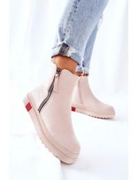 Aukštos kokybės batai su platforma - Beige Nessa - NS215 BEIGE