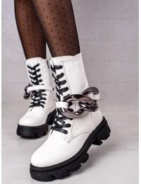 Madingi aukštos kokybės baltos spalvos batai - L13107-8W
