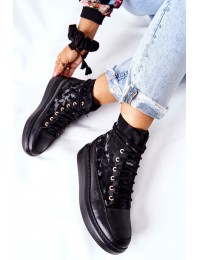 Natūralios odos aukštos kokybės stilingi batai - Black Moro - 3034 CZAR MORO