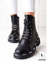 Natūralios odos stilingi aukštos kokybės batai su pašiltinimu - 49C0322B