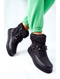 Juodi vandeniui atsparūs šilti aukštos kokybės batai - WB-3558 BLK