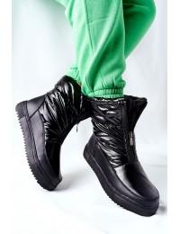 Šilti patogūs aukštos kokybės batai Black Monile - WB-4349A BLK