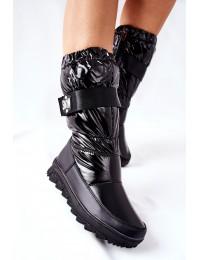 Patogūs aukštos kokybės šilti drėgmei atsparūs batai Black Eunousa - WB-4296 BLK