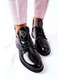 Prabangaus dizaino stilingi šilti Sergio Leone batai - PB262 BLK LAK