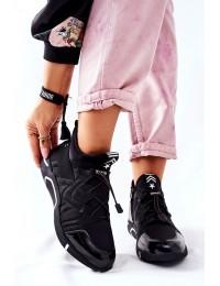 Patogūs sportinio dizaino juodi batai - 22-10680 BK