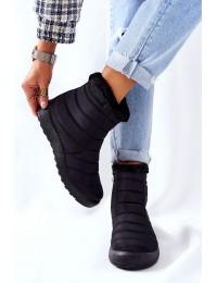 Juodos spalvos šilti žieminiai batai - 9SN26-1467 BLK