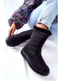 Juodos spalvos šilti žieminiai batai - 20SN26-3044 BLK