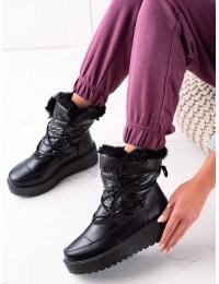Juodi šilti žieminiai batai - HY02B