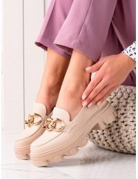 Madingi smėlio spalvos batai - D7863BE