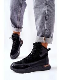 Stilingi aukštos kokybės natūralios odos batai Black Chocci - 21-15003BKP